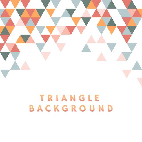 Colorful triangle pattern illustration