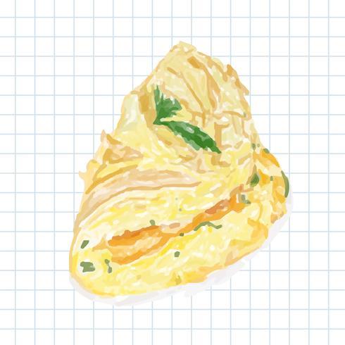 Stile acquerello disegnato a mano omelette