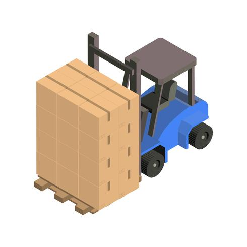 Warehouse forklift isolated on background