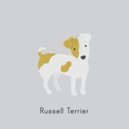 Cute illustration of a jack russel dog