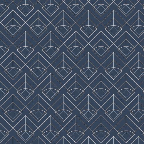 Blanc motifs géométriques sans soudure sur un fond bleu