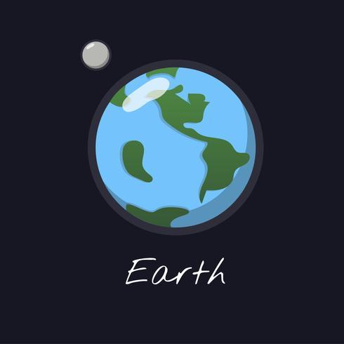 Vecteur de la planète terre
