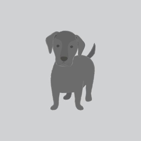 Gullig illustration av en labradorhund