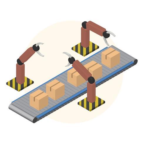 Icône isolé industriel de logistique entreprise sur fond