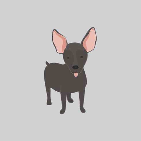 Cute illustration of a mini pinscher dog