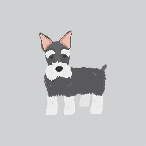 Cute illustration of a scottish terrier dog