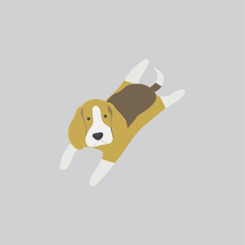 Nette Abbildung eines Spürhundhundes