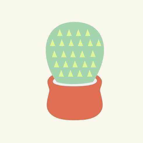 Illustrazione di una pianta di cactus