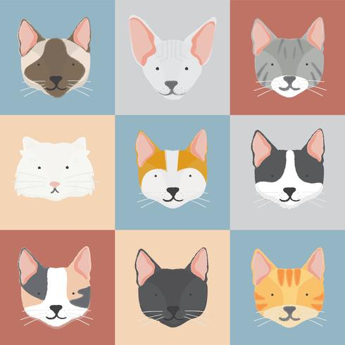 Illustration av katter samling