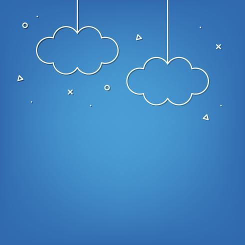 Cloud-Speicher-Hintergrund