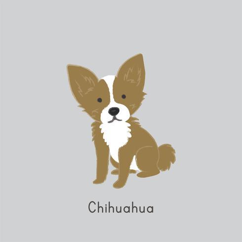 Illustrazione sveglia di un cane della chihuahua