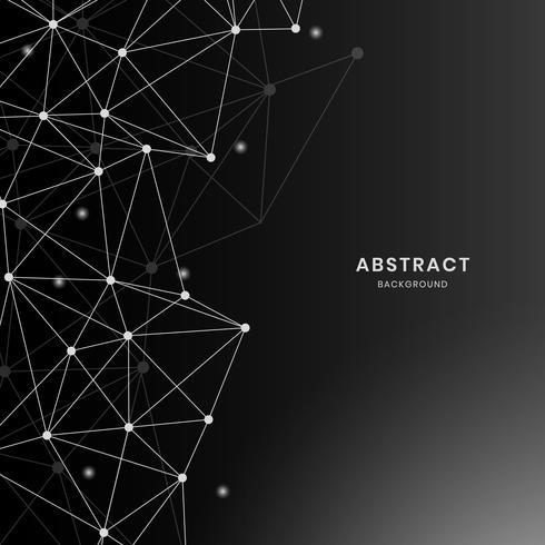 Black neural network illustration