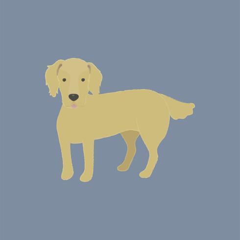 Leuke illustratie van een golden retrieverhond