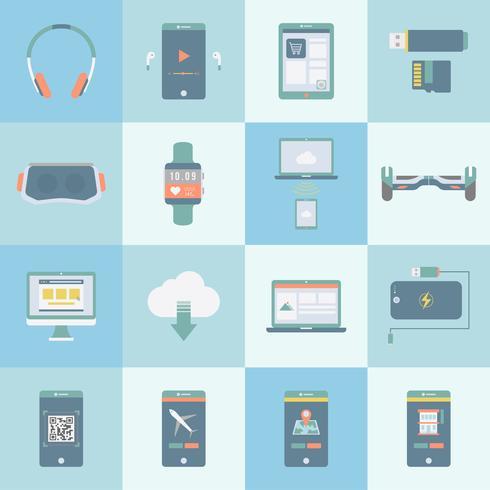 Collection de vecteurs d'appareils numériques