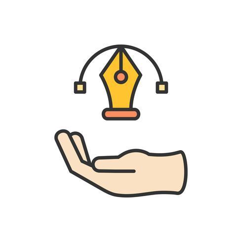 Illustrazione dell'icona di progettazione grafica