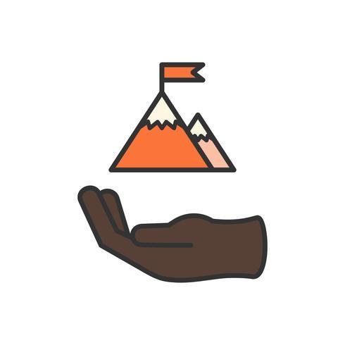 Illustratie van zakelijke prestatie pictogram