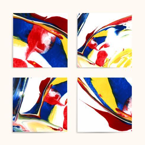 Mixed acrylic paintings