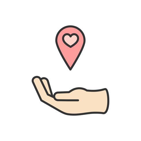 Ilustração, de, doação apoio, ícones