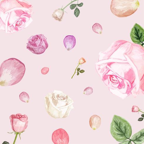 Abbildung der zeichnenden weißen rosafarbenen Blume