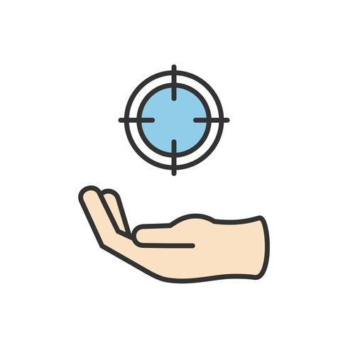 Illustration de l'icône de cible commerciale