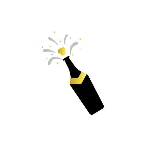 Ilustración del icono de la botella de champán