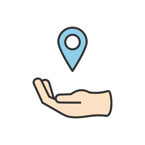 Illustration of direction pin icon