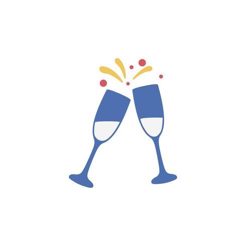 Illustration d'un toast au champagne
