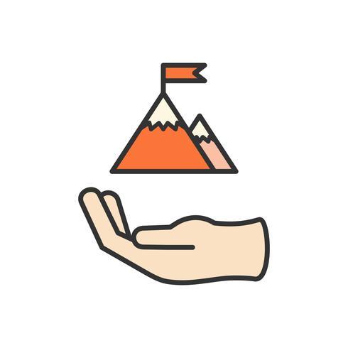 Illustration of business achievement icon