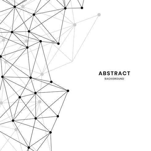 Weiße neuronale Netzillustration