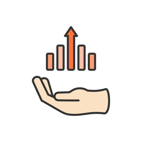 Illustrazione dell'icona di successo aziendale