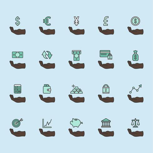 Set of financial icons