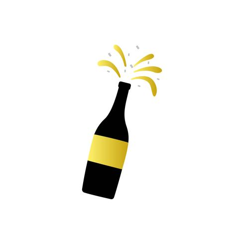 Illustration of champagne bottle icon