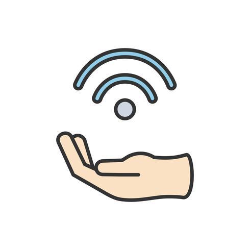 Illustration av wifi-ikon