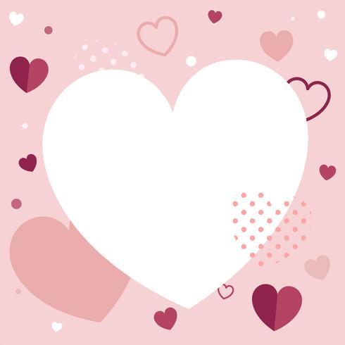 Gráfico del corazón del día de san valentín
