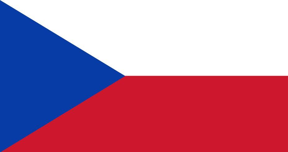 Abbildung der Flagge der Tschechischen Republik
