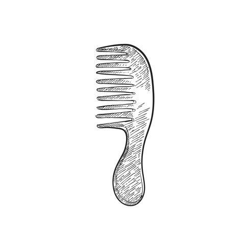 Vintage illustration of a comb