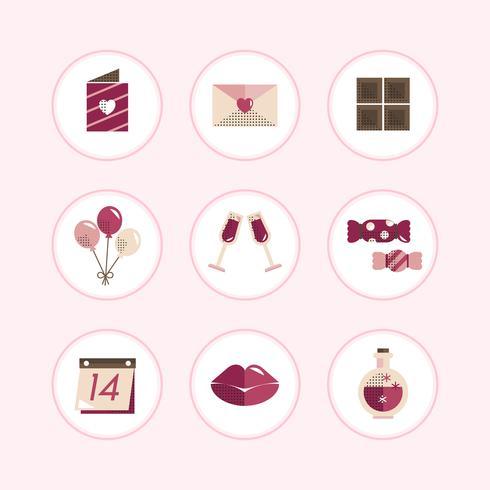 Pastell Valentines Icon-Set