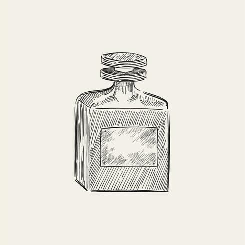 Uitstekende illustratie van een parfumfles