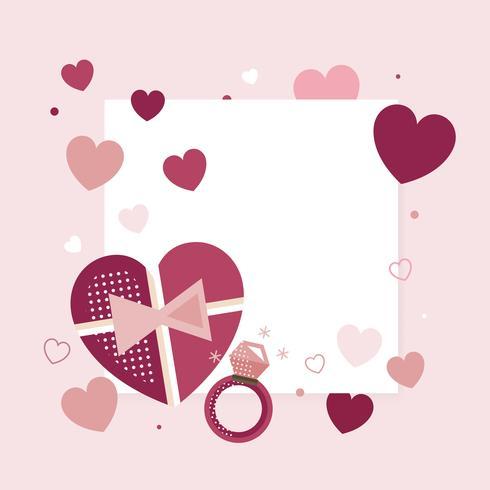 Grafica del cuore di San Valentino