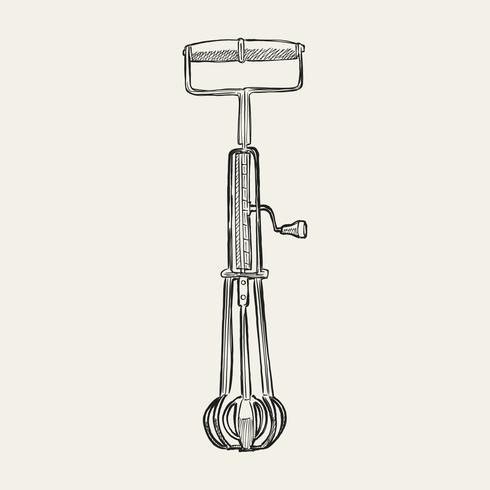 Illustration vintage d'un fouet