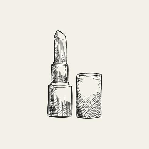 Illustration vintage d'un rouge à lèvres