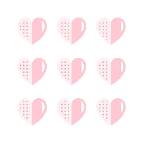 Tvåfärgade hjärtatikoner