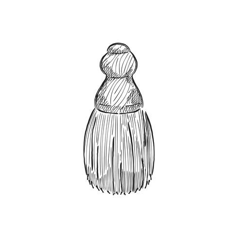 Illustrazione d'epoca di un pennello da barba