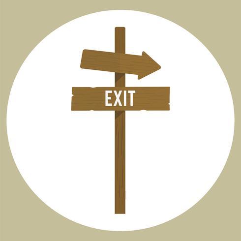Illustration av exit sign vektor
