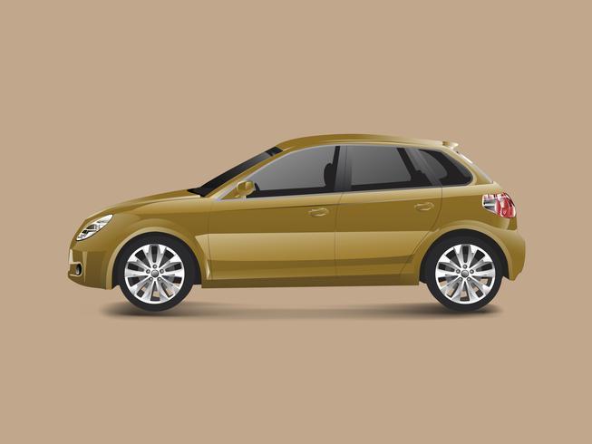 Automobile marrone della berlina in un vettore marrone del fondo