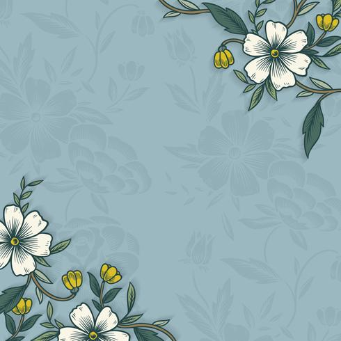 Floral border with copy space