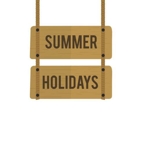 Ilustração, de, verão, feriado, sinal, vetorial