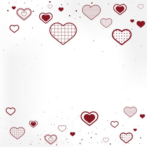 Alla hjärtans dag bakgrunds illustration