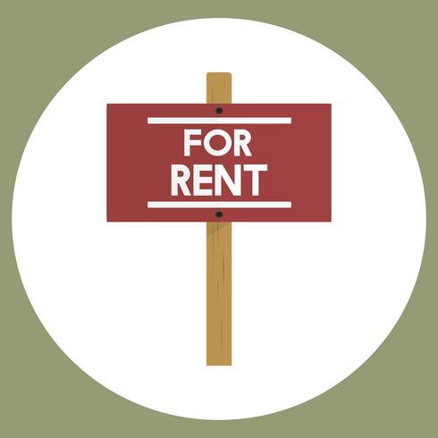 Illustration des Immobilienmietzeichen-Vektors
