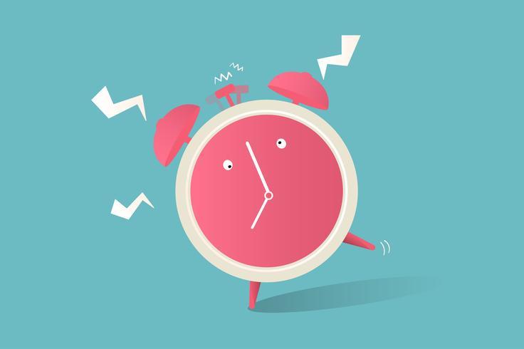 Illustrazione dell'icona dell'orologio su sfondo blu